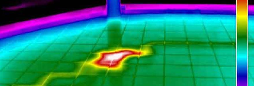 Recherche de fuite d'eau par caméra thermique